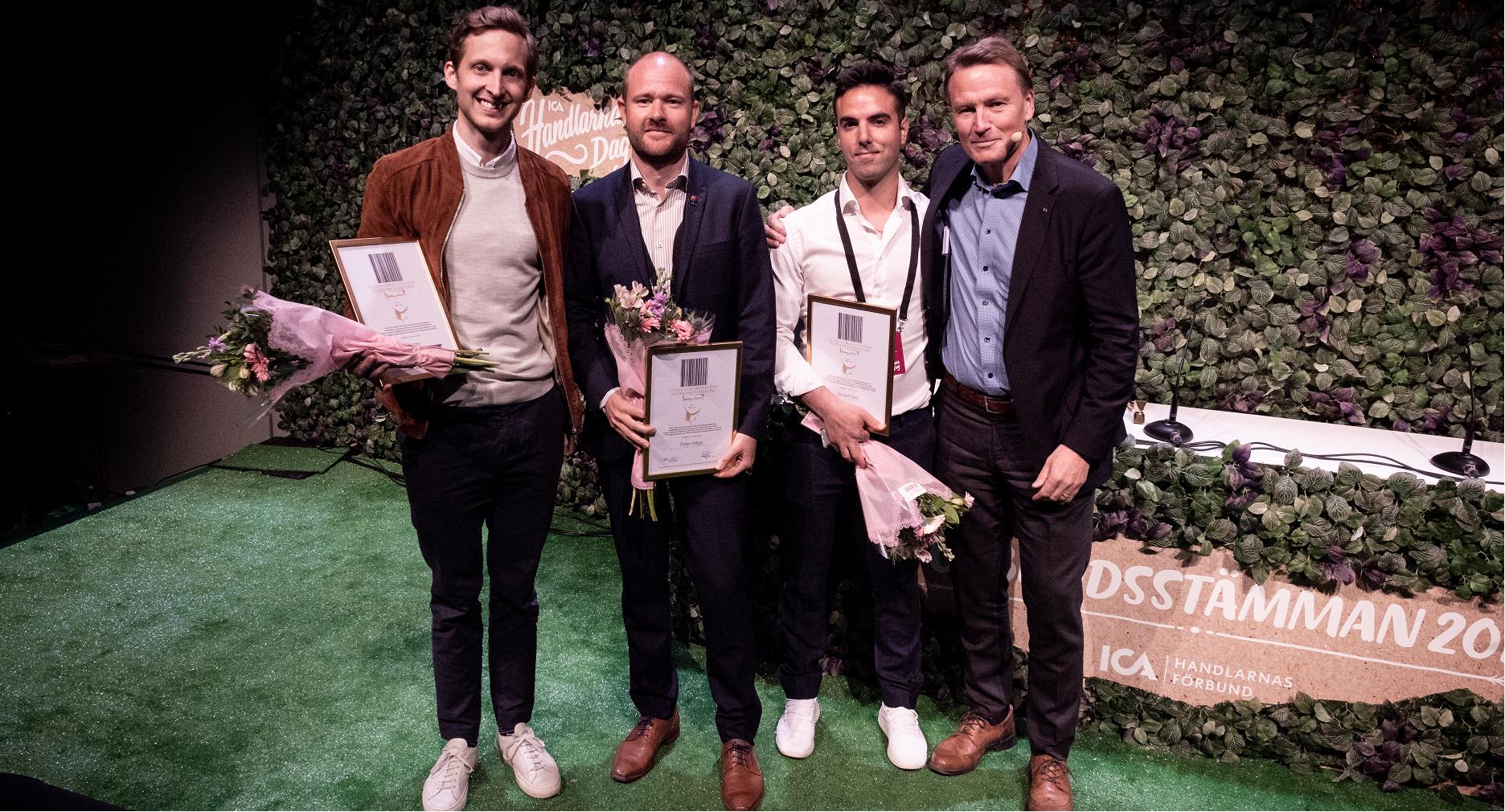 Claes-Göran Sylvén prisar tre hållbara entreprenörer