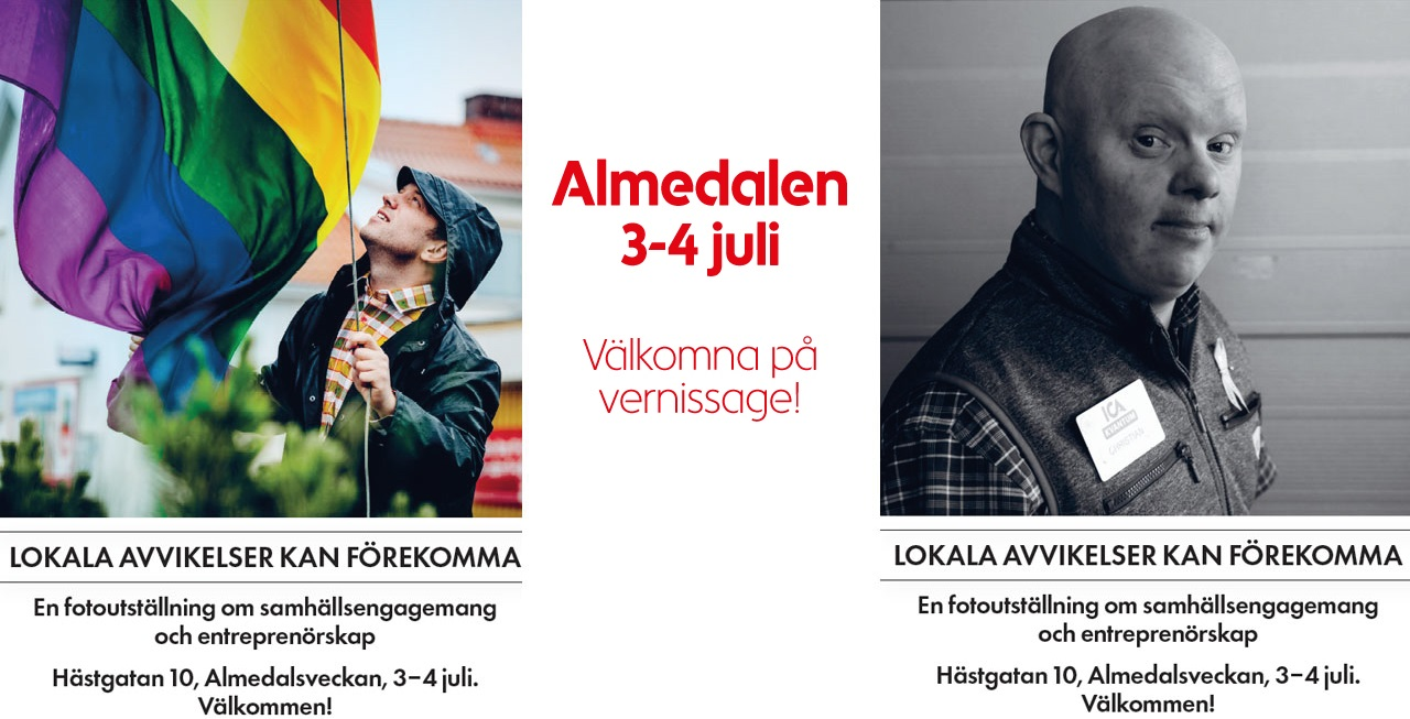 Vernissage i Almedalen: Lokala avvikelser kan förekomma