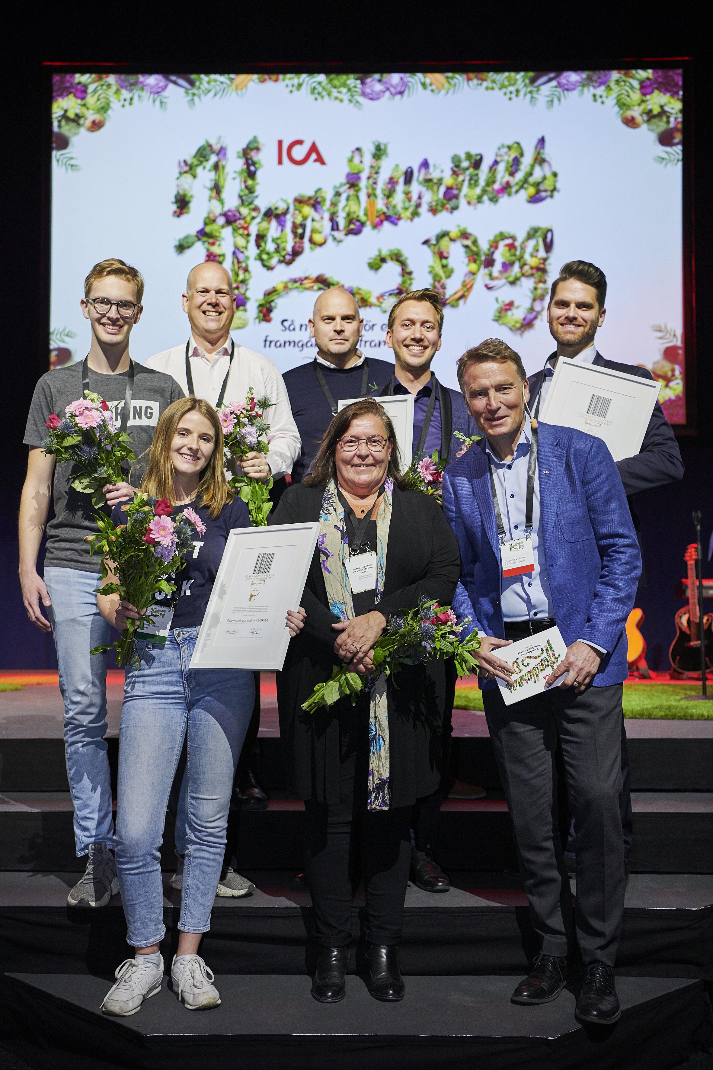 Claes-Göran Sylvén prisar tre entreprenörer
