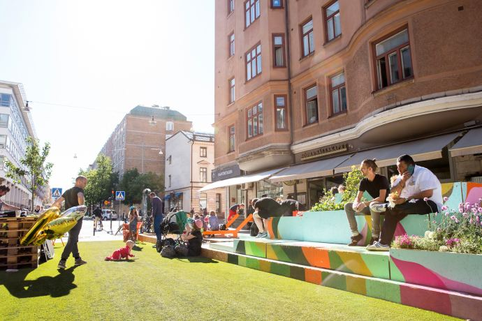 Creating a pop up park is now everybody's game - White
