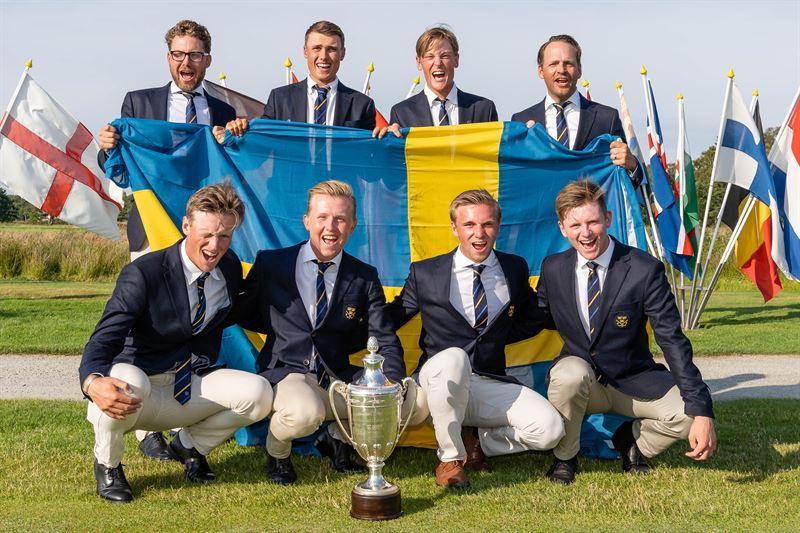 Guld till Sverige i LagEM fr herrar 2019 p Ljunghusens GK