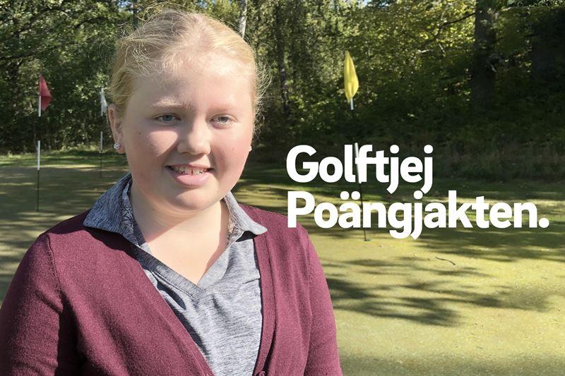 Clara Magnebrant Viksbergs GK har spelat mycket golf sommaren 2019 och kvalat in till finalen i Golftjej Pongjakten p restads GK 2829 september