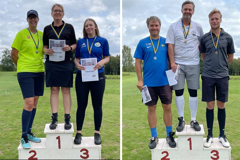 Medaljrer FootgolfSM 2021 herr och dam individuella klasser