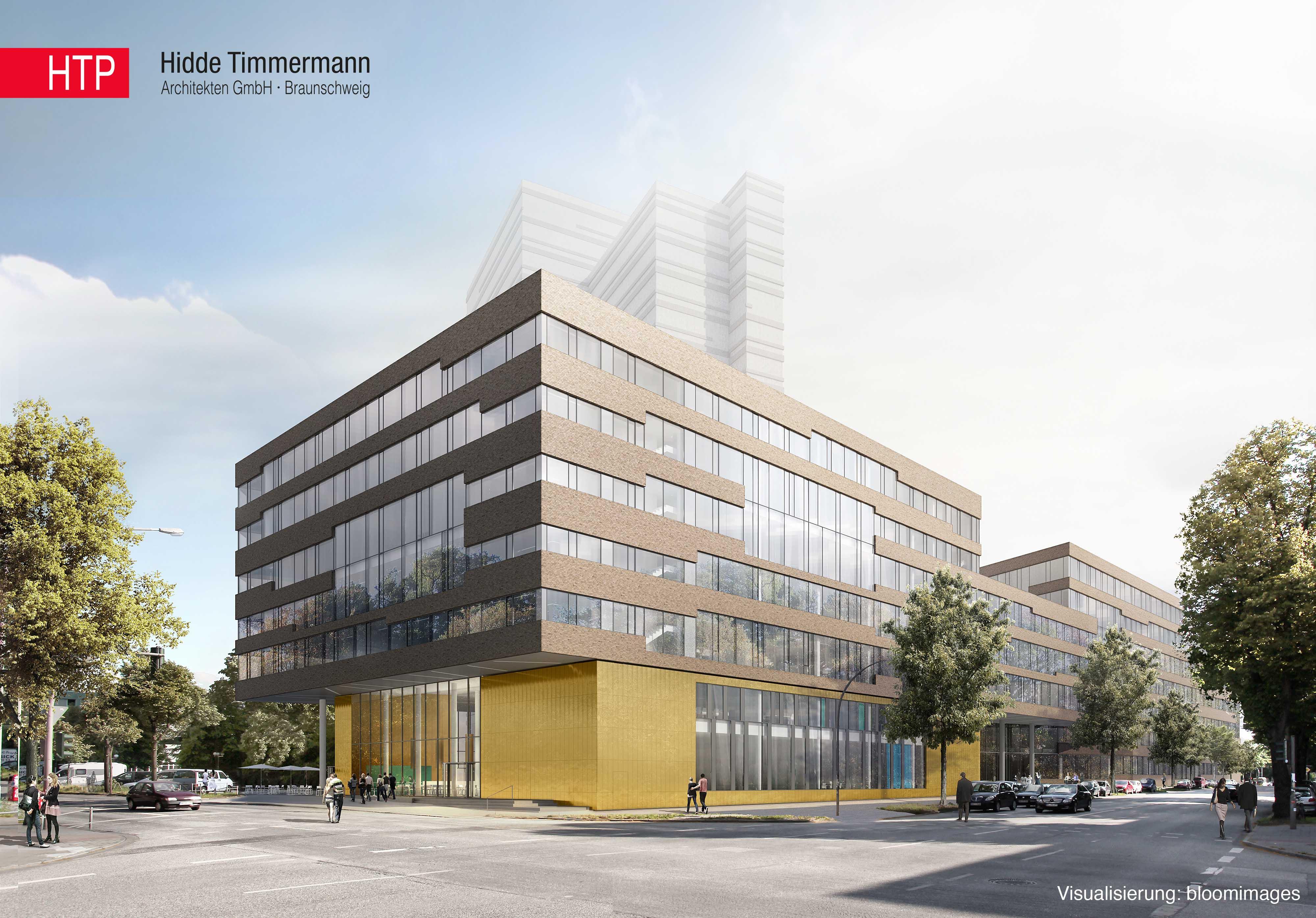 Neubau am Geomatikum der Universität Hamburg © HTP