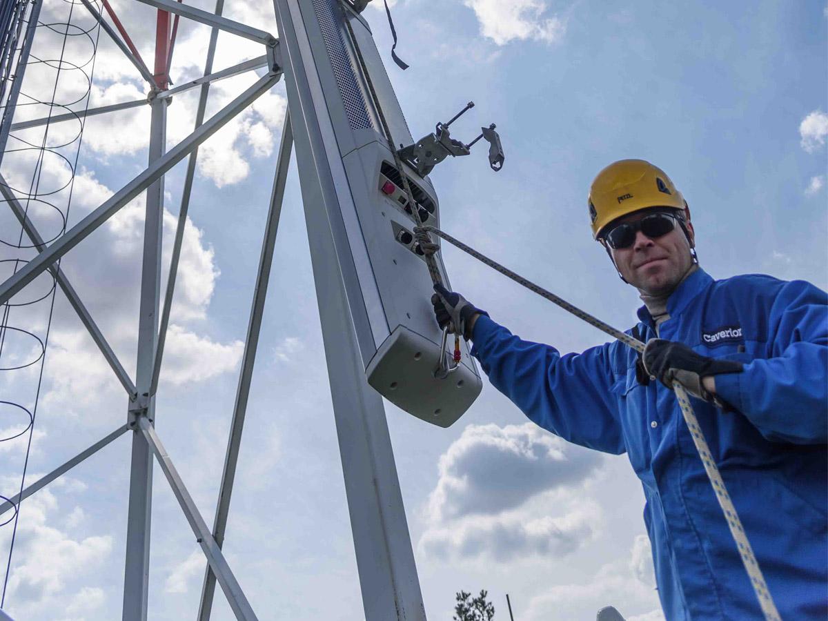 Sicherung am Seil © Caverion GmbH