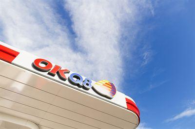 okq8 logo mot himmel