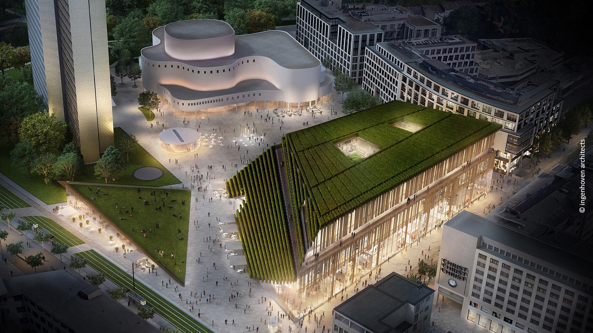 Kö-Bogen II in Düsseldorf © Ingenhoven architects