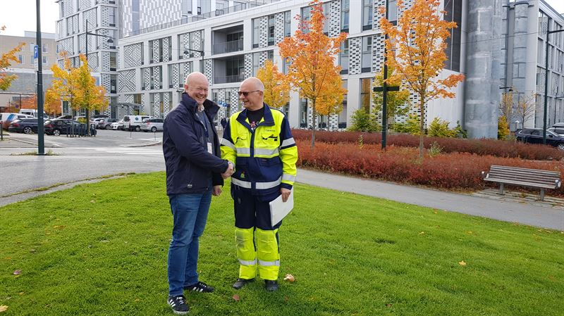 Gunnar wreJohansen og avdelingssjef for Trndelag prosjekt Andreas Forbord