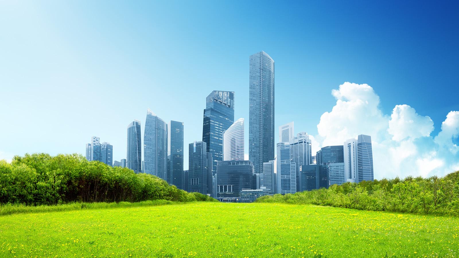 Caverion modern green city