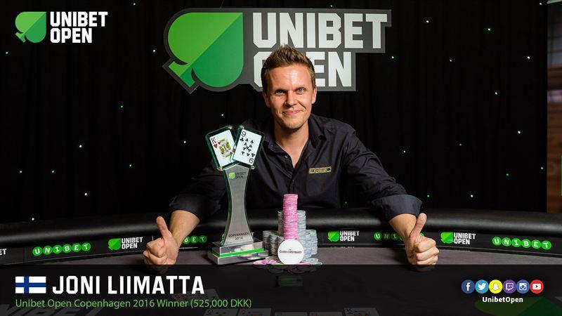 Joni Liimatta Unibet Open -voittonsa jälkeen