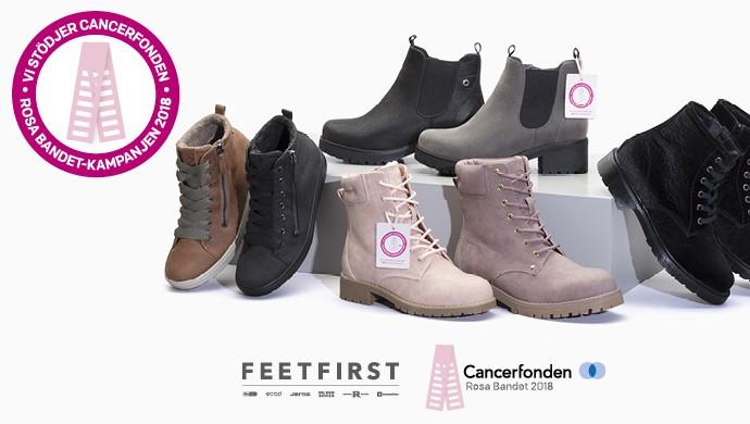 FEETFIRST tackar alla kunder som hjälpt till att samla in 600 000 kronor  till Cancerfonden i årets Rosa Bandet-kampanj. Sammanlagt har över 10 000  par skor ... 878a0298a8c2f