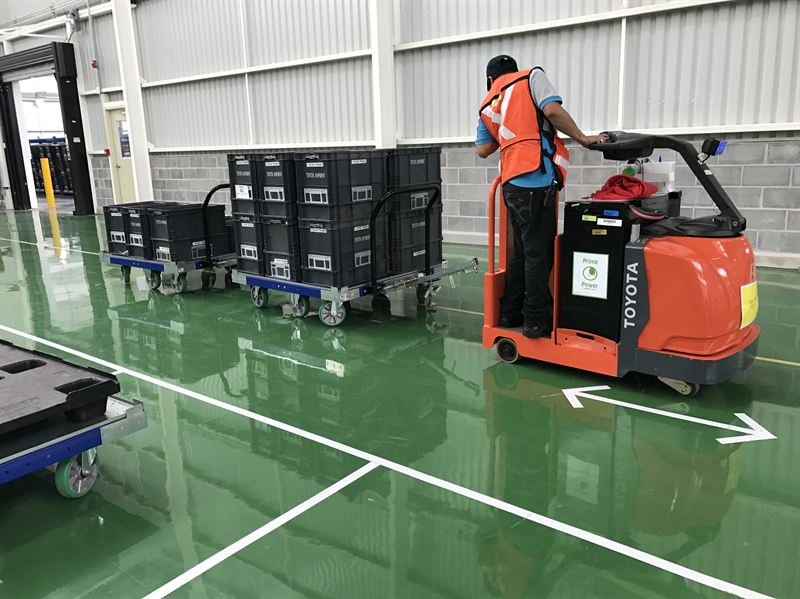 FlexQube Tugger Carts at Customer in Mexico
