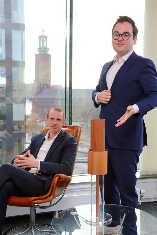Stefan Ekvall försäljningschef och Mikael Pérez vd på LightAir