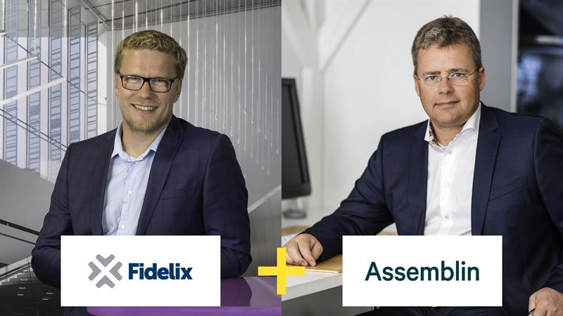 Tero Kosunen President and CEO of Fidelix and Mats Johansson President and CEO of Assemblin