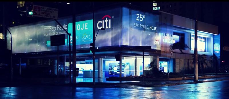 christie laser phosphor projection and founders brazil light up citibank s s o paulo branch with