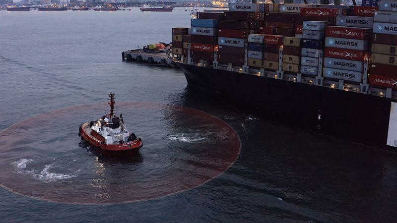 Polaris mit DP-System im Hafen von Singapur