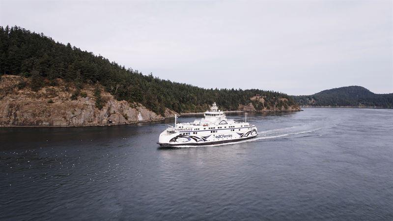 The environmentally sustainable BC Ferries' Salish Class vessels feature Wärtsilä's integrated propulsion system with LNG fuelled Wärtsilä engines. Copyright: BC Ferries