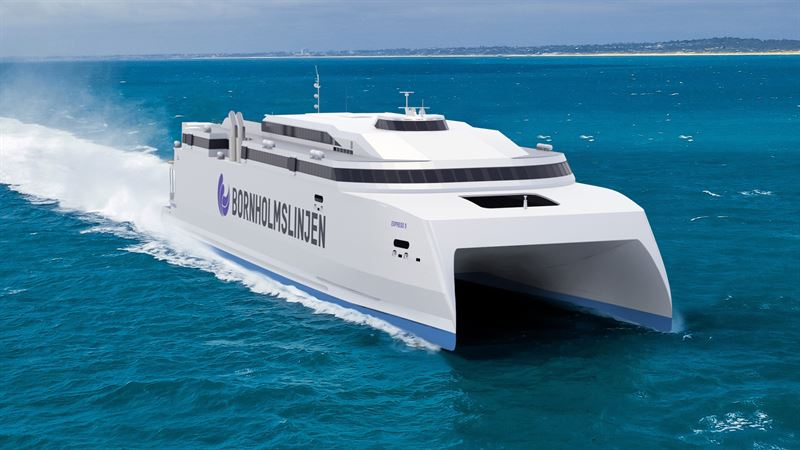 The new Molslinjen high-speed ferry is to be built at the Austal yard in the Philippines and will feature a combination of Wärtsilä propulsion solutions. Copyright: Austal Ships Pty Ltd