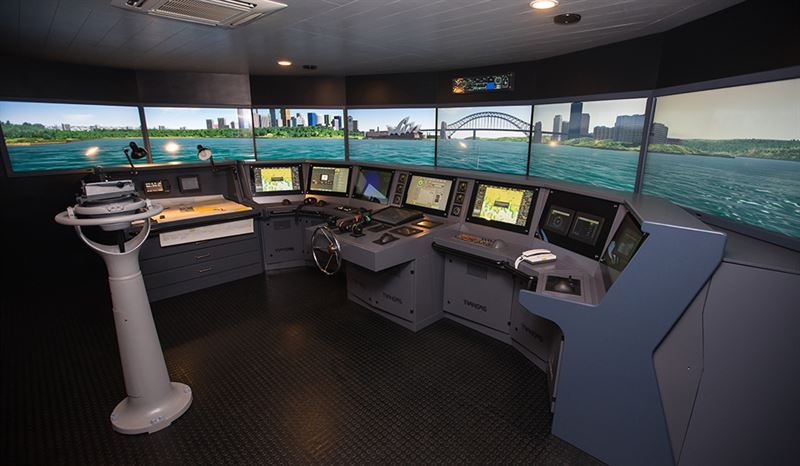 Simulator complex powered by Wärtsilä Voyage at the Training and Education Office of the Indonesian National Police.