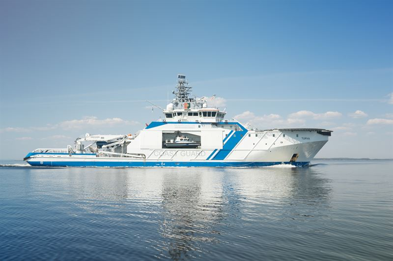 The Finnish Border Guard's patrol vessel the 'Turva' operates with Wärtsilä dual-fuel engines capable of running on Bio LNG fuel. © Finnish Border Guard