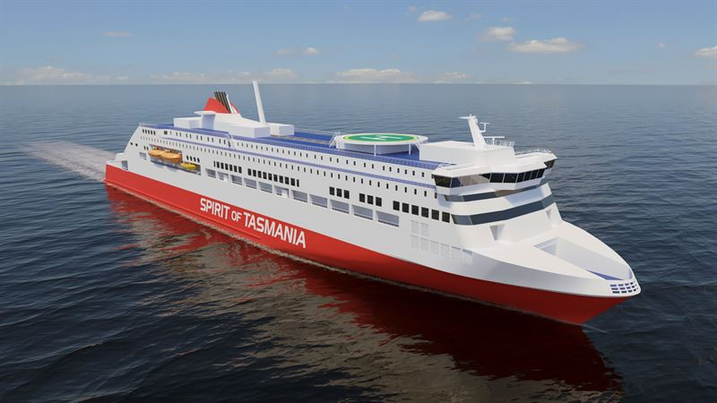 The new TT-Line ferries will be fitted with Wärtsilä engines powered by LNG.  Wärtsilä will also supply its LNGPac fuel storage, supply and control system.  Designed by Rauma Marine Constructions Oy. © Rauma Marine Constructions Oy