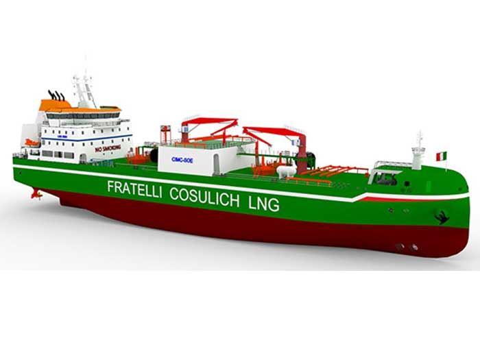 Fratelli Cosulich LNG Bunker vessel. © Fratelli Cosulich LNG