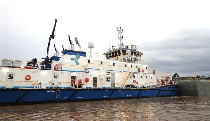 Hidrovias do Brasil will add two new river pusher tugs to its fleet. Like 12 of the fleet's existing vessels, they will operate with Wärtsilä 20 engines. © Hidrovias do Brasil