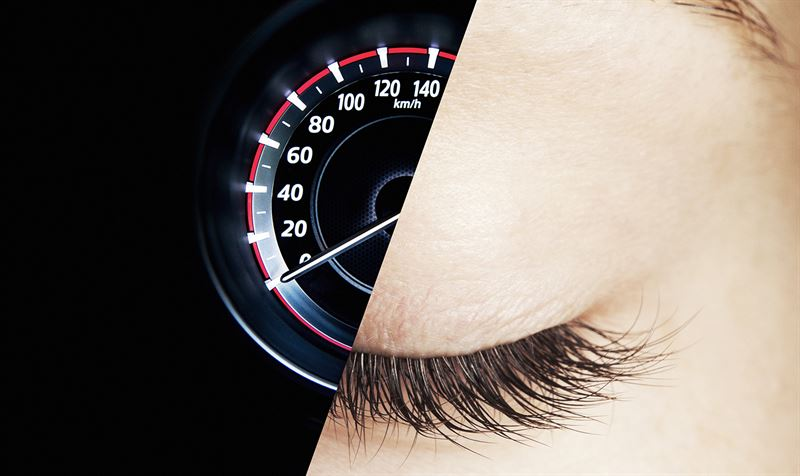Smarteye konceptbild speedometer eye