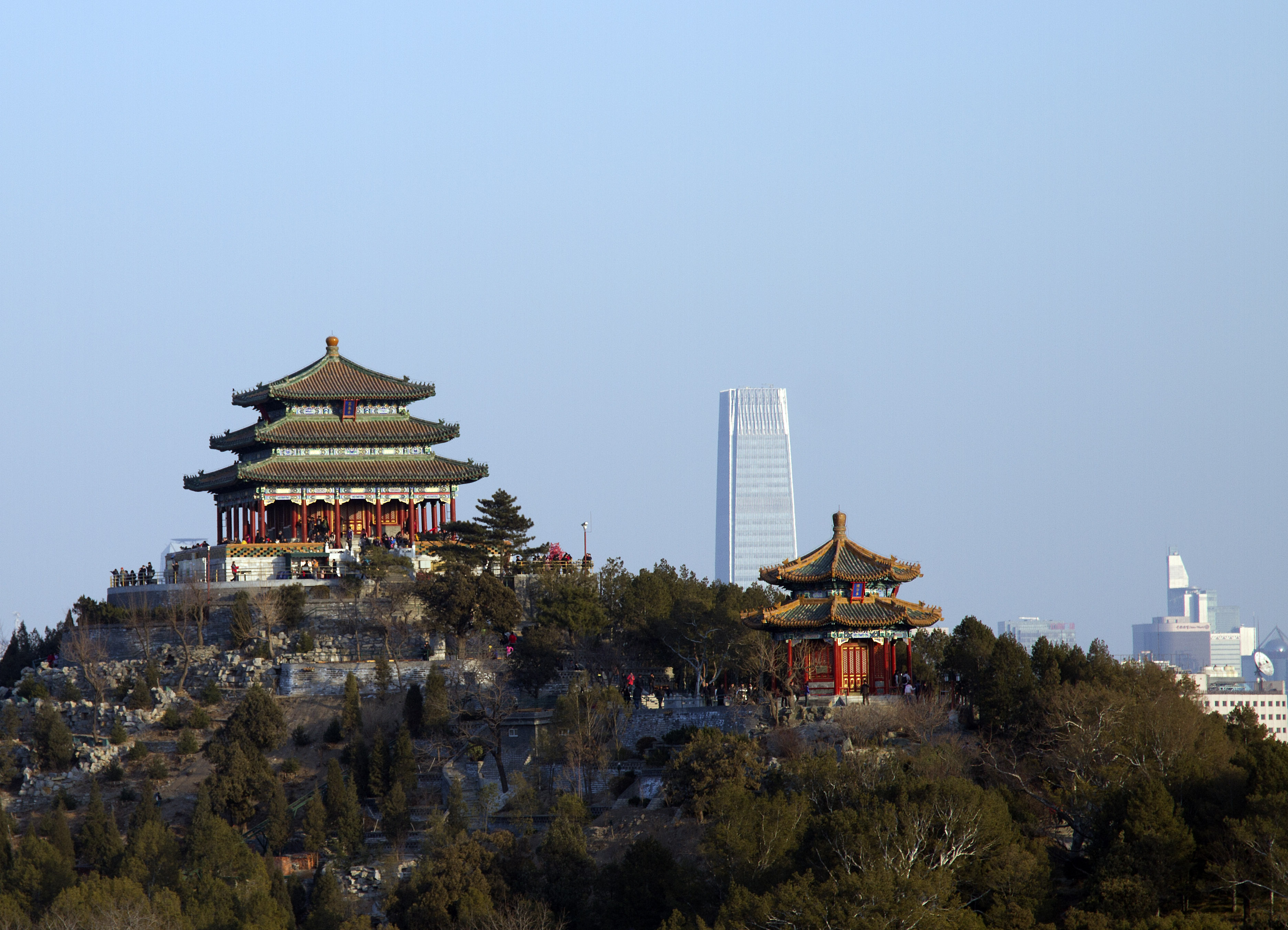 Beijing temple skyline