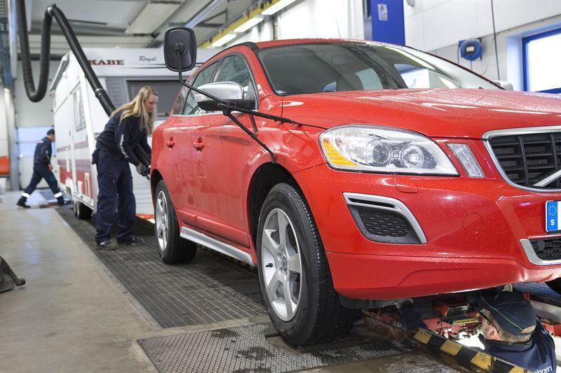 Besiktning av husvagn hos Bilprovningen