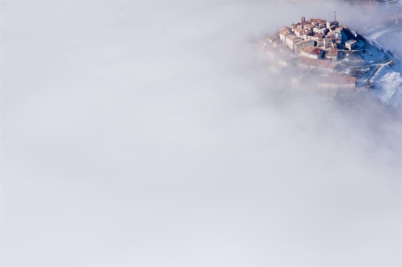 Castelluccio in the clouds