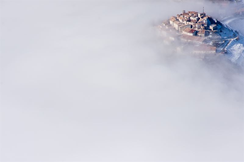 Castelluccio in the clouds