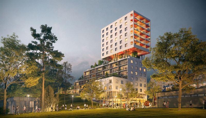 Hagstra hubb av Belatchew Arkitekter och Sveafastigheter Bostad