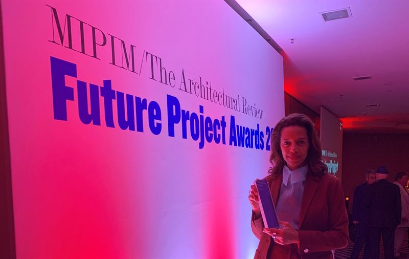 Rahel Belatchew at the Architectural Review MIPIM Future Project Award 2019 Ceremony Cannes France