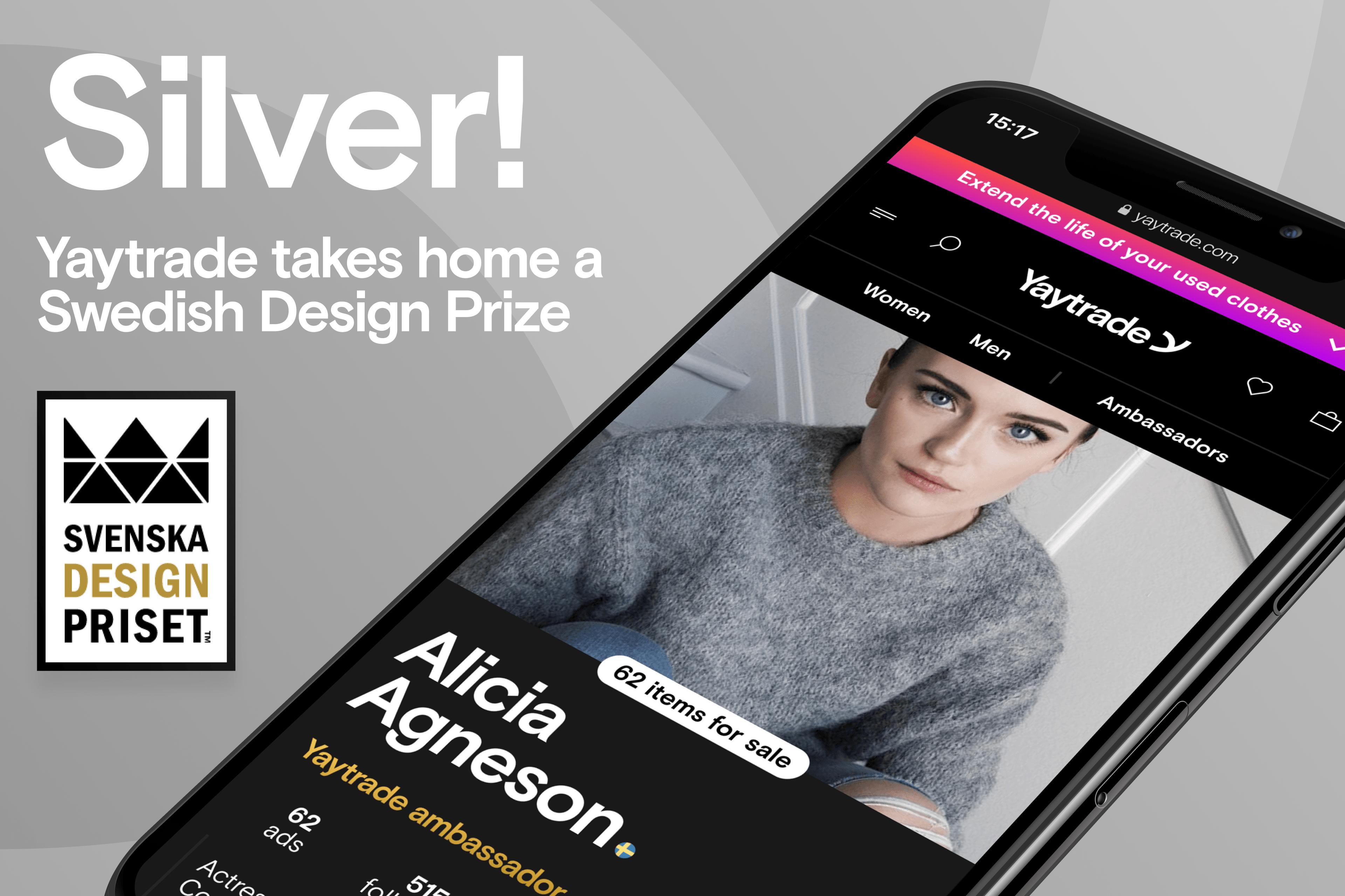 Yaytrade tar hem silver i Svenska Designpriset