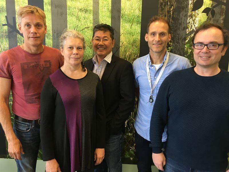 Christer Malm Irene Granlund Nelson Khoo Anders Mannelqvist och Raik Wagner p Pro Test Diagnostics