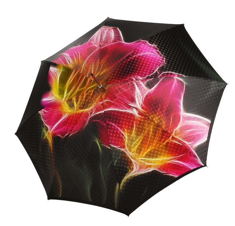 Ein Blumen Bouquet Dank Des Neuen Regenschirms Von Doppler