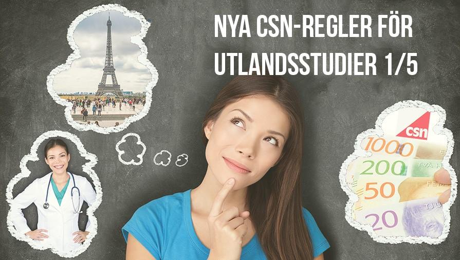 csn för utlandsstudier