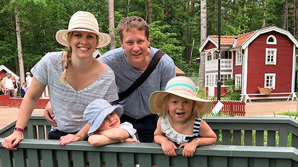 Mattias Fors med familj
