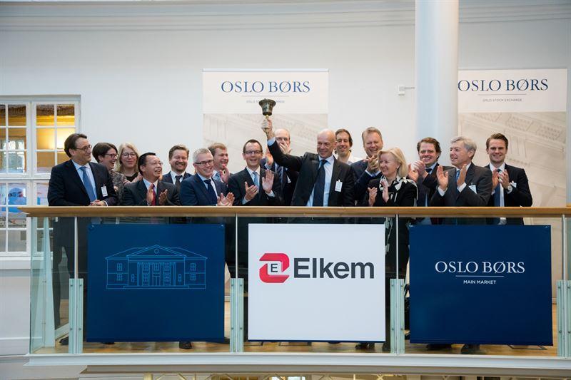 Elkem completes IPO and listing on Oslo Børs - Elkem