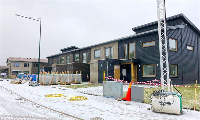Pgende byggprojektet i Hgerneholm Arninge