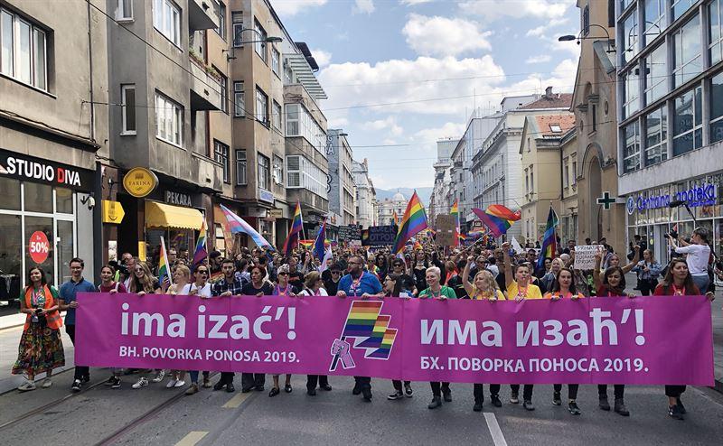 Bosnien Hercegovinas frsta pride i Sarajevo