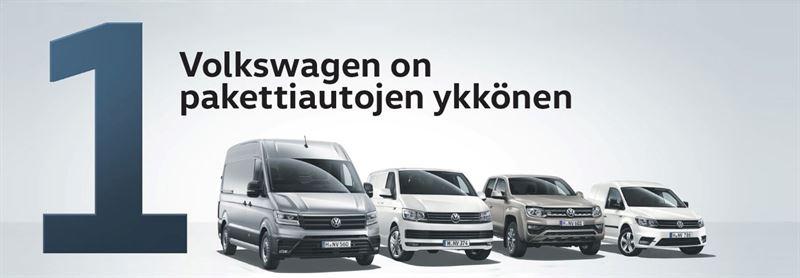 Volkswagen pakettiautojen ykkönen 2018
