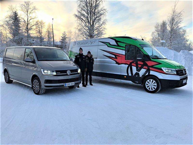 Volkswagen Crafter ja Transporter sekä Lindholm ja Korhonen