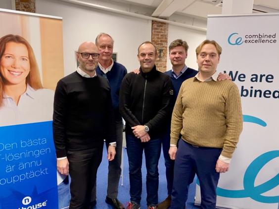 Combined Excellence expanderar genom frvrv av digitaliseringsexperten Nethouse Frn vnster Niklas Hellberg Bjrn Pettersson Ulf Sandlund Mats Lindqvist och Oskar Godberg