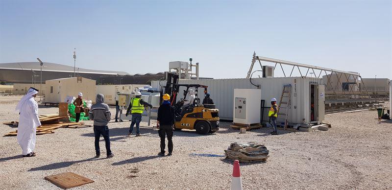 Industrial Solar installs ORC turbine ar QEERI
