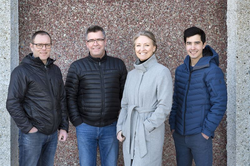 Johan Wikstrm Thomas Mannberg Lena Forsgren och Kim Eklund Alla nyanstllda p Contractor