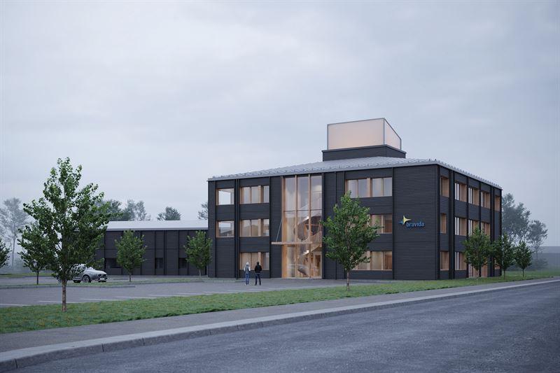 Exterir Bravidas nya kontor i Ume