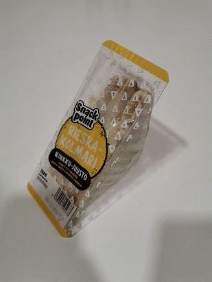 Rieska Kolmari läpinäkyvässä muovipakkauksessa.