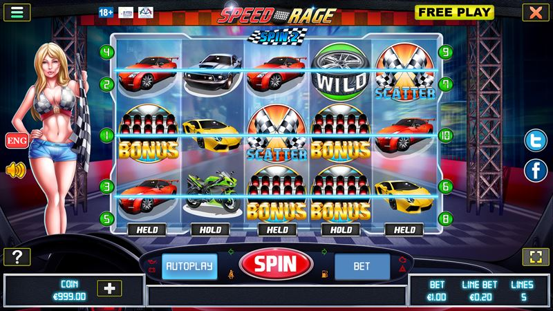 Speed Rage - New slot from Join Games - Join Games Sweden AB